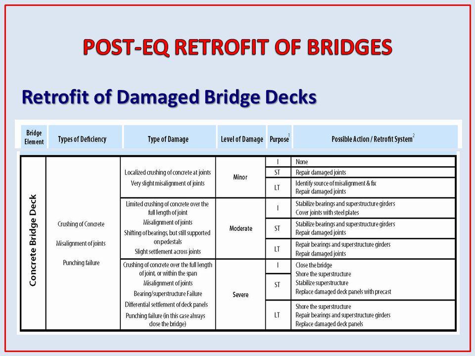Retrofit of Damaged Bridge Decks