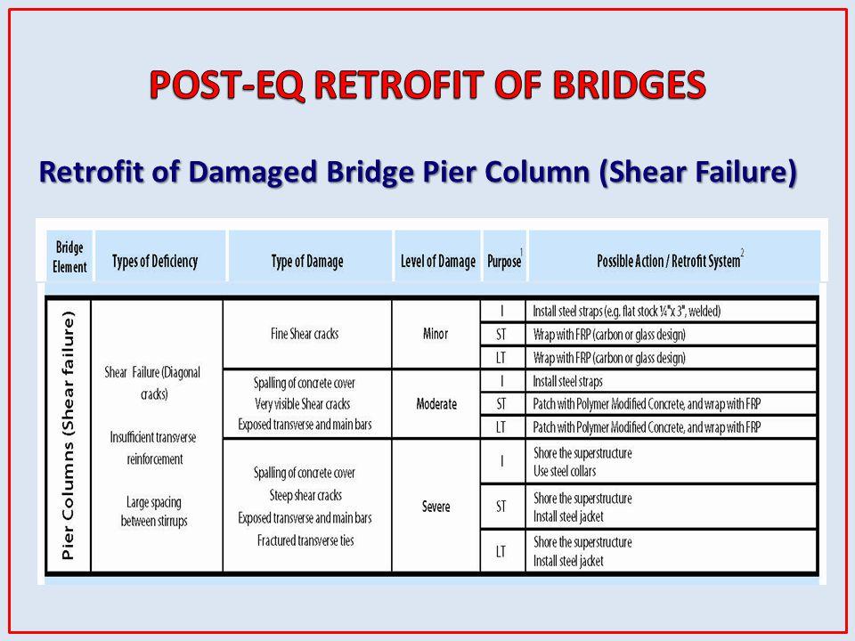 Retrofit of Damaged Bridge Pier Column (Shear Failure)
