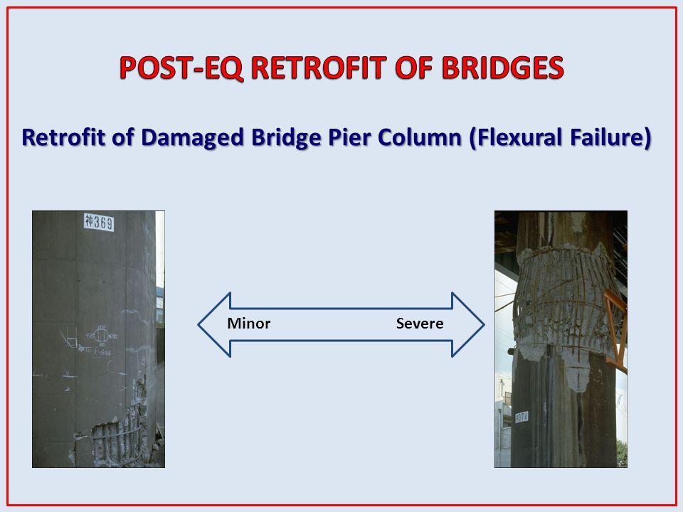 Retrofit of Damaged Bridge Pier Column (Flexural Failure) MinorSevere