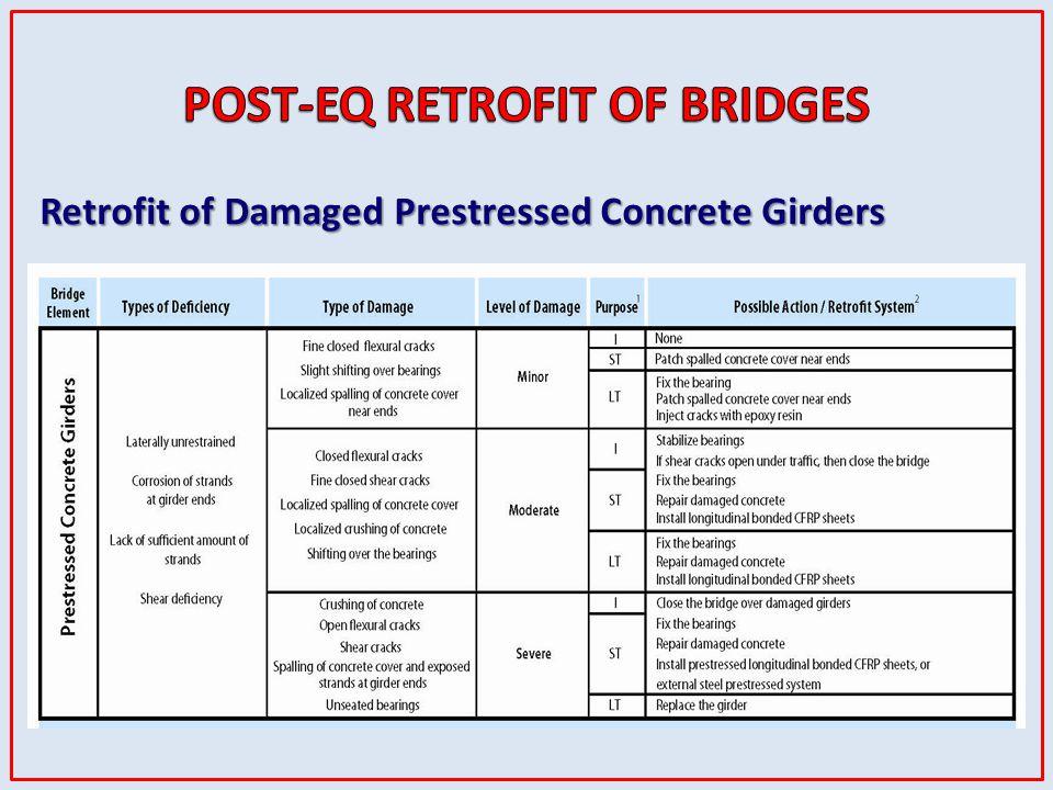 Retrofit of Damaged Prestressed Concrete Girders