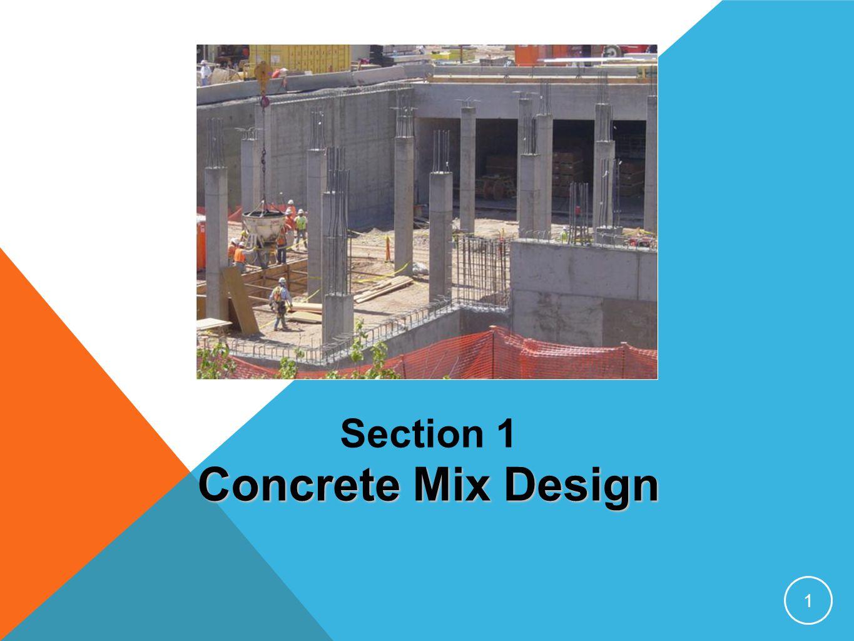 Section 1 Concrete Mix Design 1