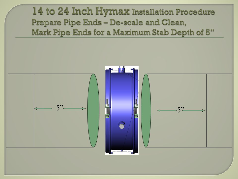 1 - Pin in Set Position2 – Pin Set for Installation Loosening of Pin allows for full Retraction of Coupling over pipe end