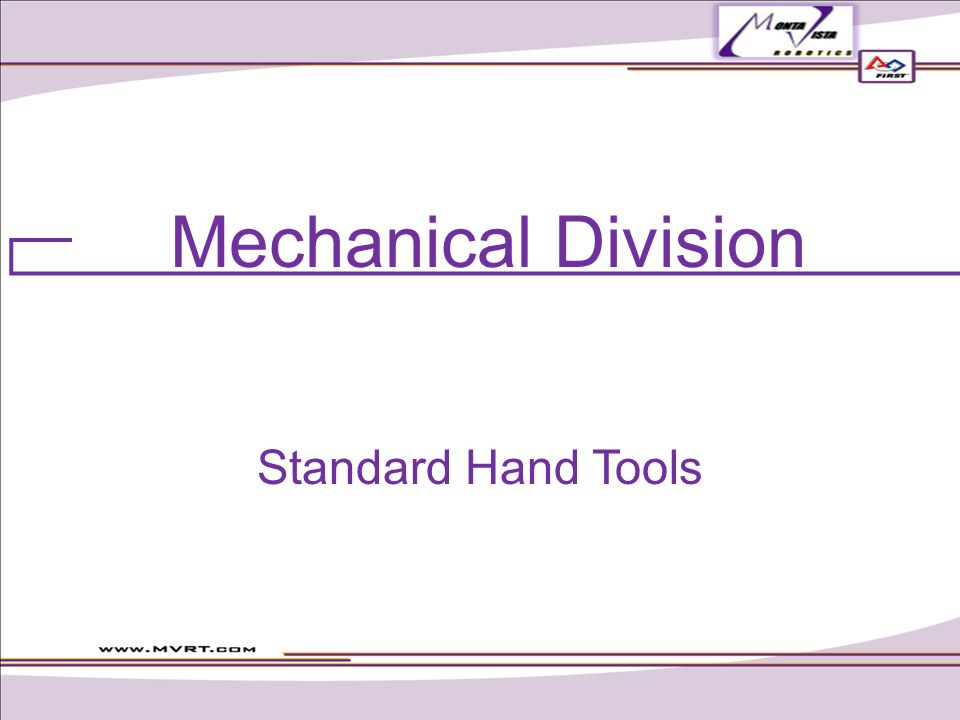 Mechanical Division Standard Hand Tools
