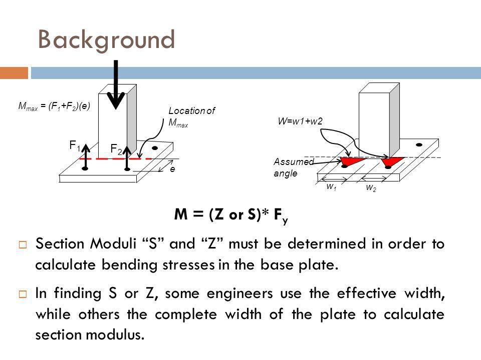 Conclusions For Concentric loads and Uniaxial bending, the maximum flexural stress regions start originating opposite to anchor bolts next to the column edges and continue increasing along the column face with increase in loads.