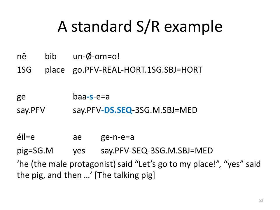 The Mian zigzag construction unáng=i káawa=o woman=PL.ANsteel.axe=N2 om-ûb-o-s-e F_CL.PL.O-give.PFV-3SG.F.R-DS.SEQ-3SG.M.SBJ om-ûb-o-s-e F_CL.PL.O-giv