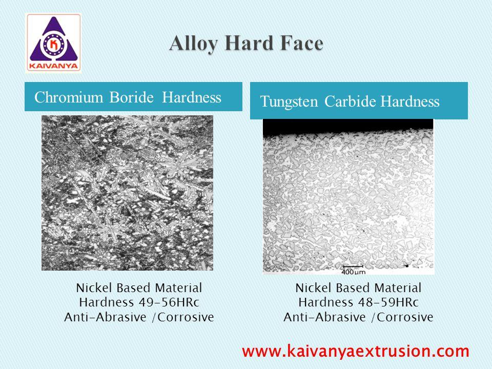 Chromium Boride Hardness Tungsten Carbide Hardness Nickel Based Material Hardness 49-56HRc Anti-Abrasive /Corrosive Nickel Based Material Hardness 48-