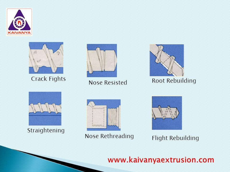 Straightening Nose Resisted Nose Rethreading Root Rebuilding Flight Rebuilding Crack Fights www.kaivanyaextrusion.com
