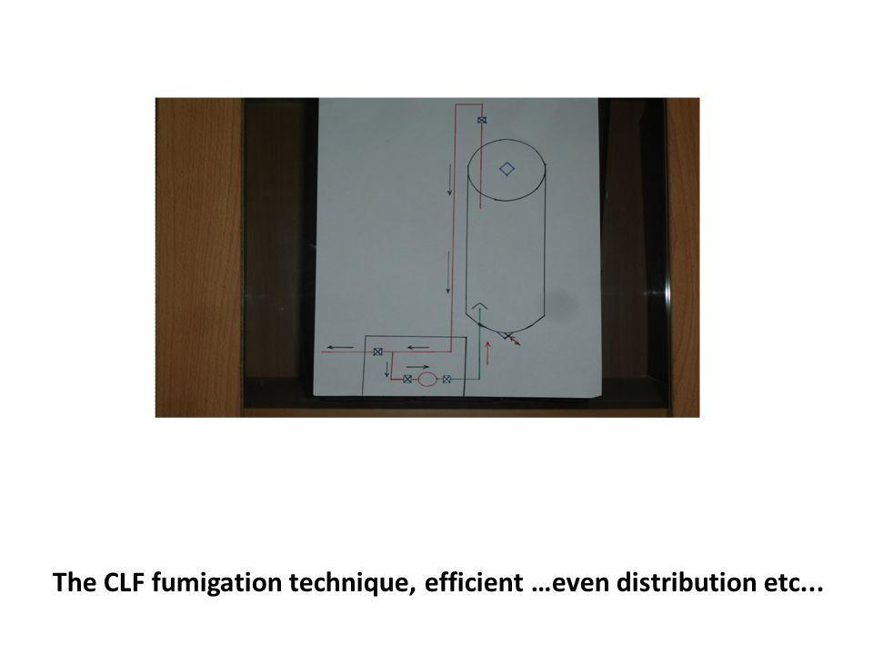 The CLF fumigation technique, efficient …even distribution etc...