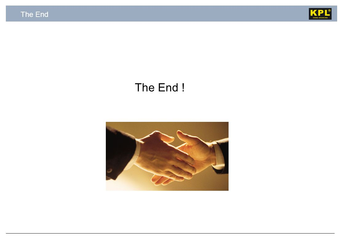 The End The End !