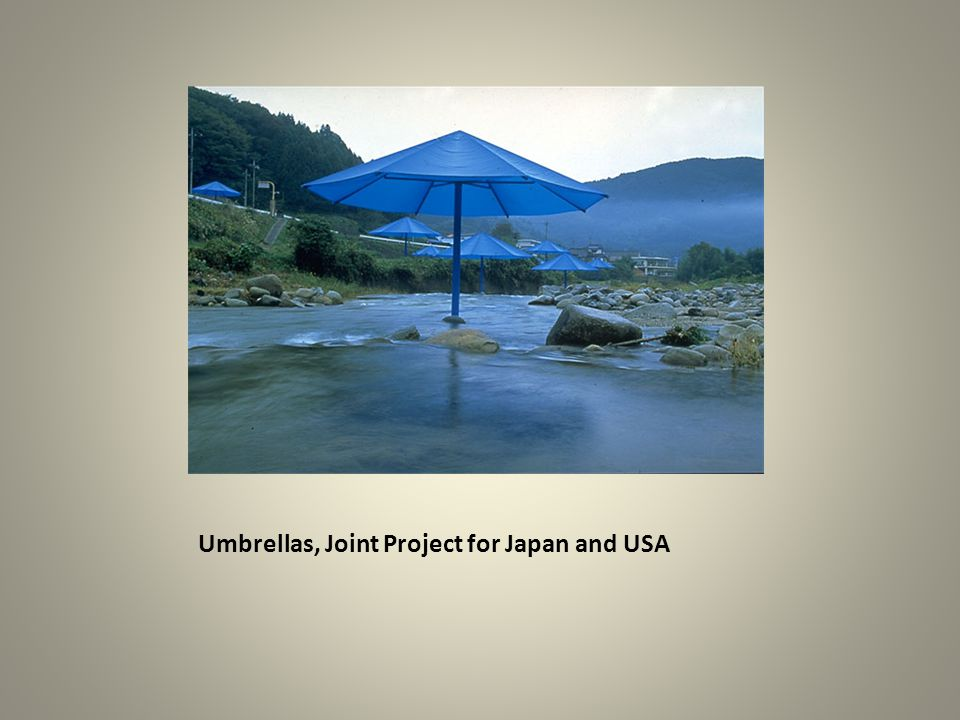 Umbrellas, Joint Project for Japan and USA