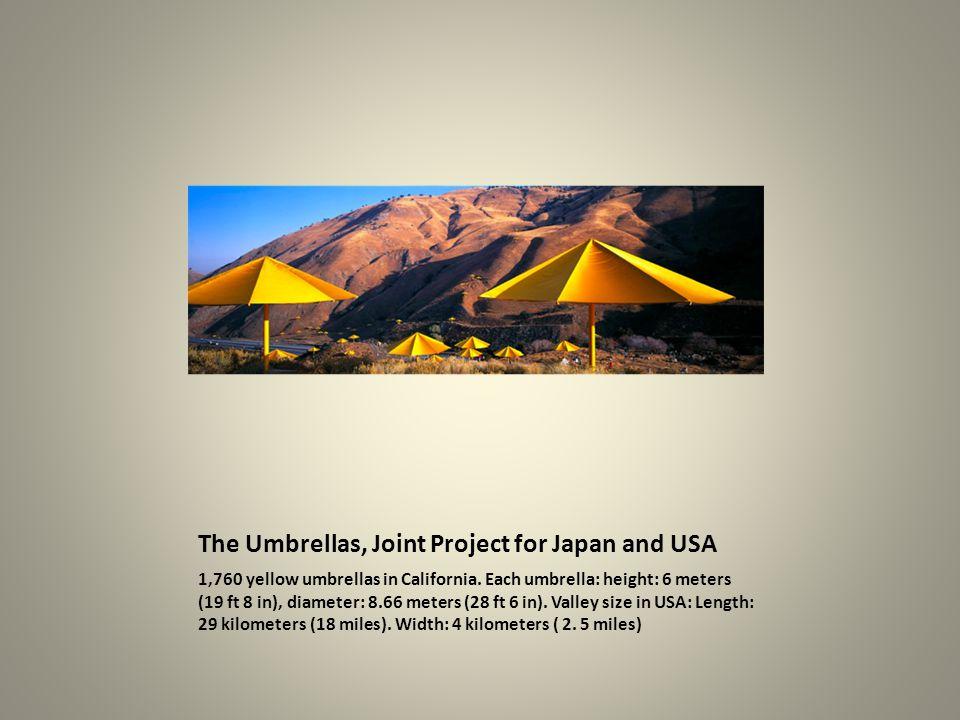 1,760 yellow umbrellas in California.