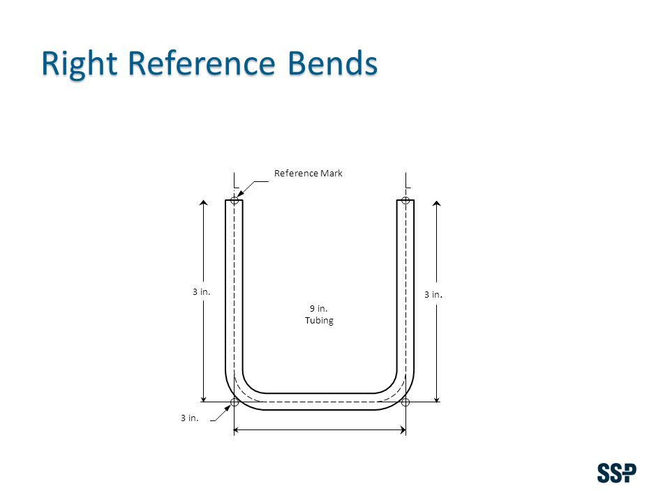 Right Reference Bends 3 in. Reference Mark 9 in. Tubing