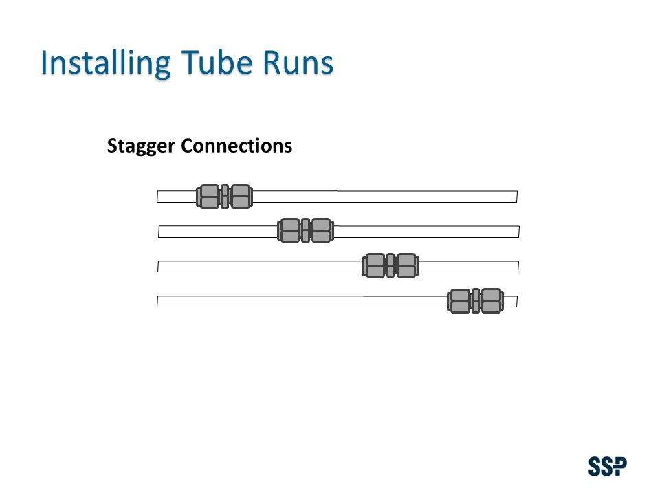 Installing Tube Runs Stagger Connections