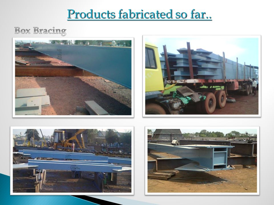Products fabricated so far..