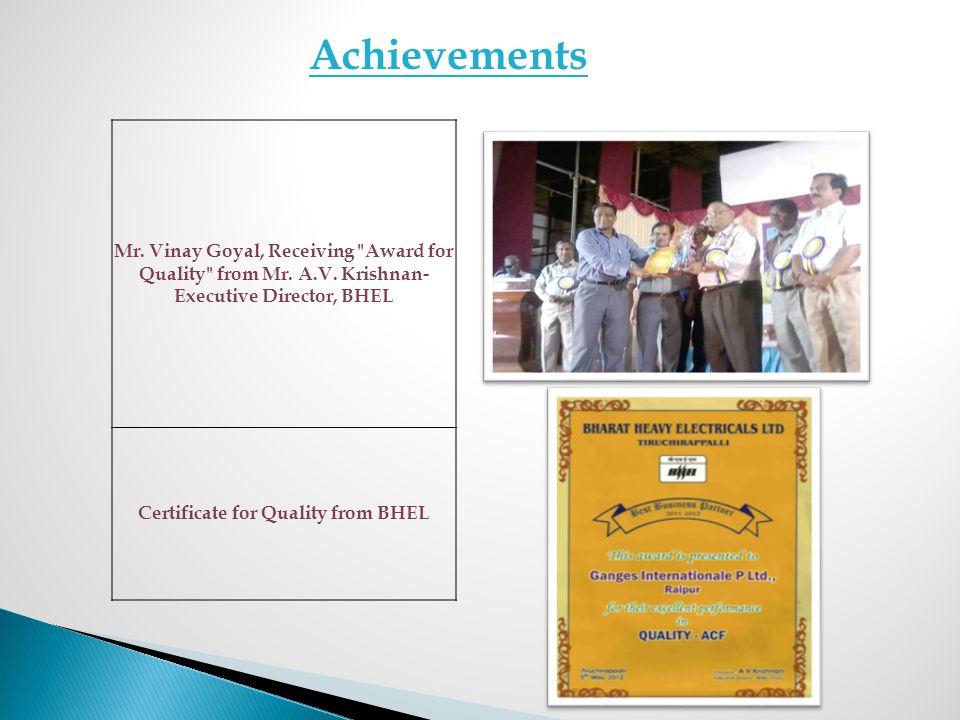 Mr. Vinay Goyal, Receiving