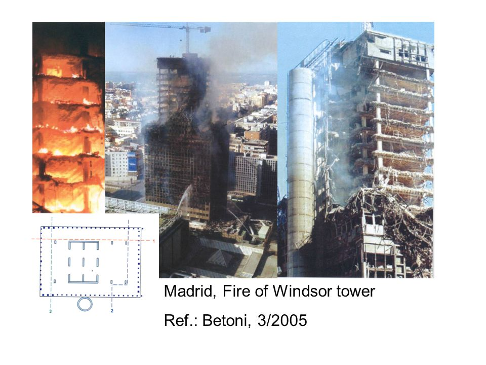 Madrid, Fire of Windsor tower Ref.: Betoni, 3/2005