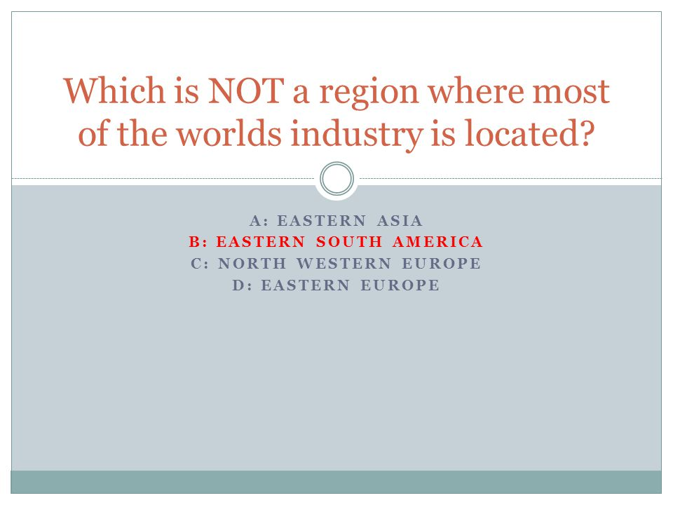 A: LABOR B: LAND C: CUSTOMERS RESOURCES The site factor most effecting relocation of industry in the twenty-first century