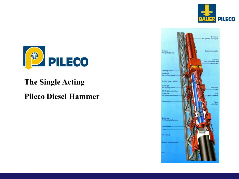 The Single Acting Pileco Diesel Hammer