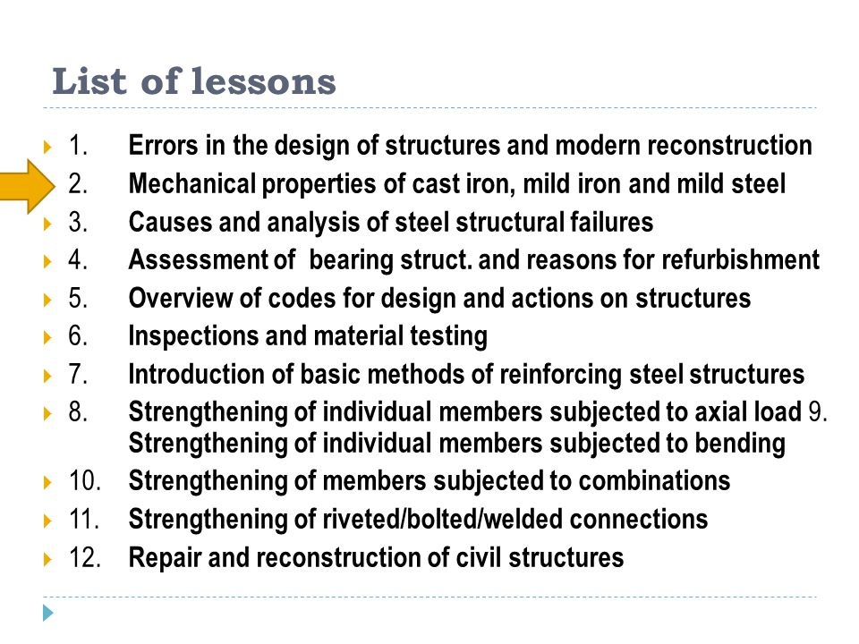 3 Objectives of the lecture Introduction History of using iron and steel Cast iron Wrought iron Mild steel Properties of materials from ISO 13 822 (Bases for design of structures – Assessment of existing structures) History of joints - RIVETING Retrofitting, replacement possibilities Case study – Casaratta bridge Design of replacement Material tests