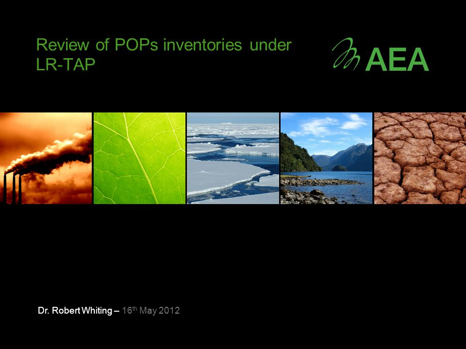 Review of sources for PAH Key Sources from LR-TAP 2010 gridded data: Residential combustion of fuels (925 tonnes) Field burning (229 tonnes) Small scale waste burning (38 tonnes) Stationary combustion of fuel for non-ferrous metal (41 tonnes) Road transport (all vehicle types) (33 tonnes) Stationary combustion of fuels in industry (32 tonnes) Commercial and Institutional Combustion of fuels (29 tonnes) Agricultural combustion of fuels (24 tonnes) Power Stations – Public Power (16.8 tonnes) Key source for x1 country each NFR 3C chemical Production – (789 tonnes)