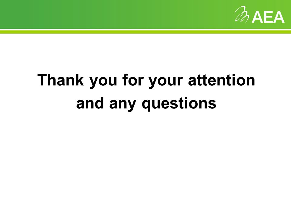 Thank you for your attention and any questions