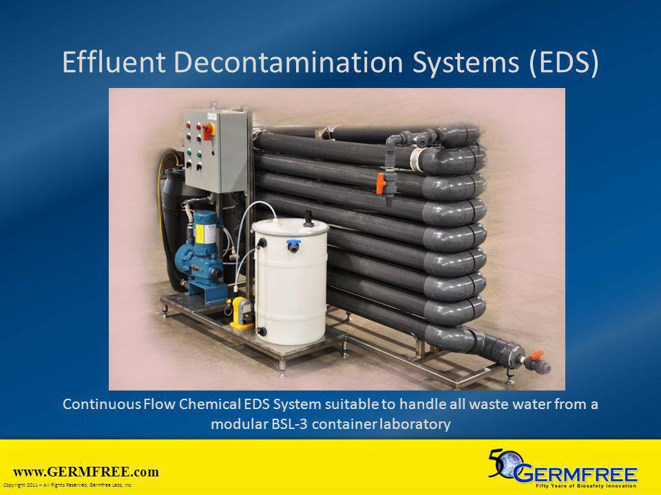www.GERMFREE.com Copyright 2011 – All Rights Reserved, Germfree Labs, Inc. Effluent Decontamination Systems (EDS) Continuous Flow Chemical EDS System