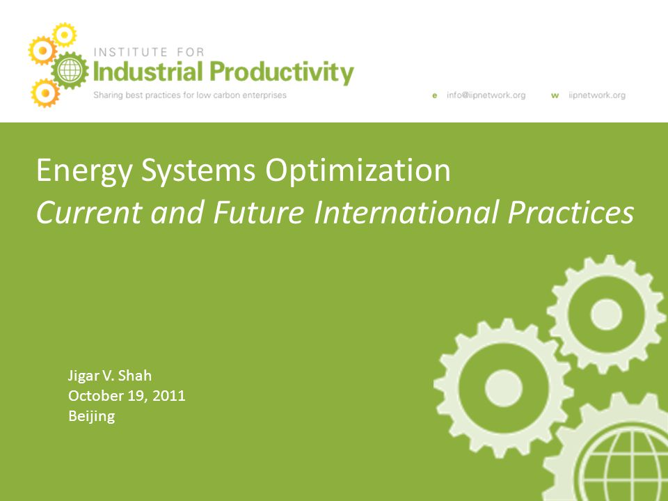 Topics What is Energy Systems Optimization (ESO).Why does ESO matter.