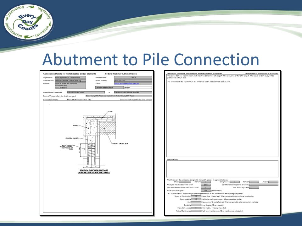 Abutment to Pile Connection