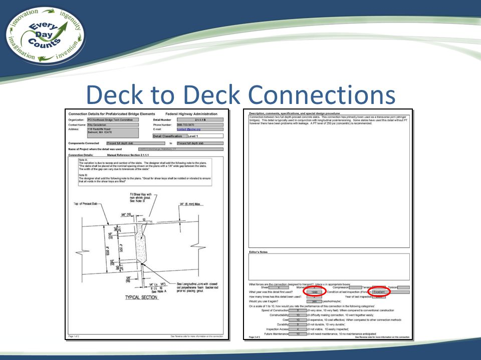 Deck to Deck Connections