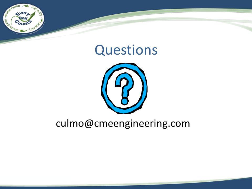 Questions culmo@cmeengineering.com