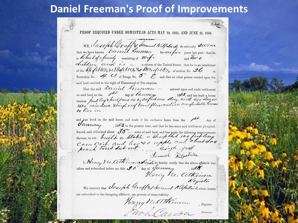 Daniel Freeman's Proof of Improvements