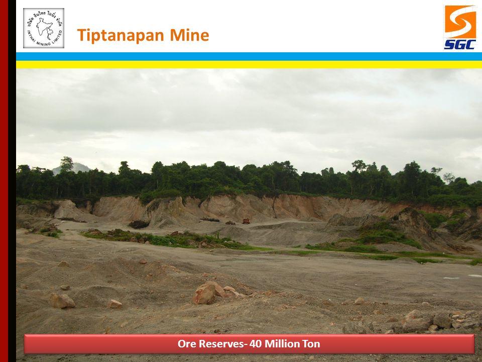 Ore Reserves- 40 Million Ton Tiptanapan Mine