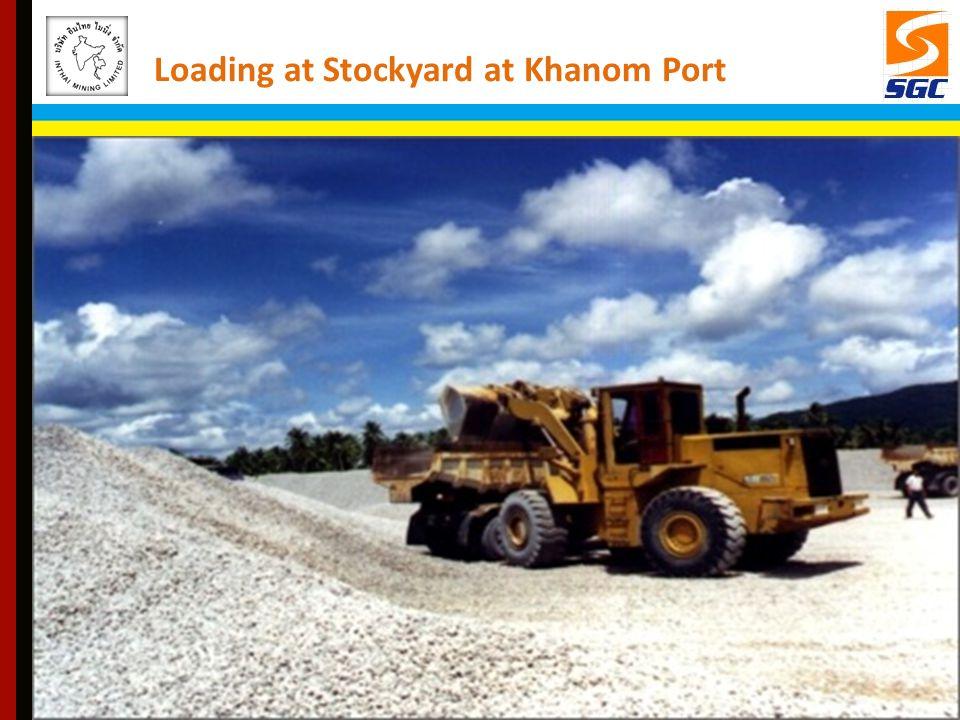 Loading at Stockyard at Khanom Port