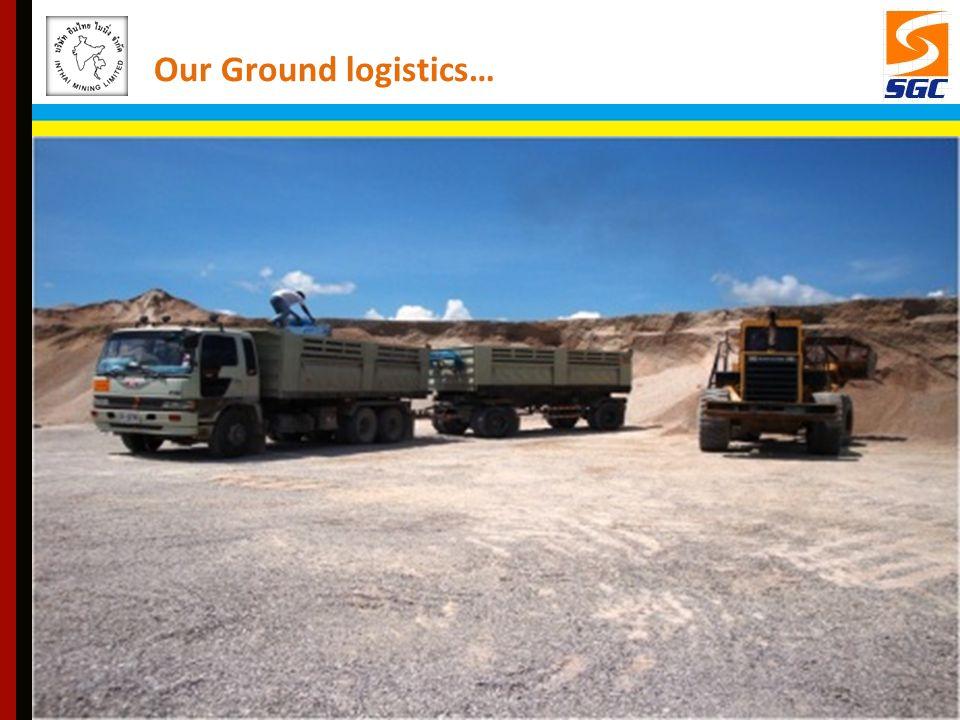 Our Ground logistics…