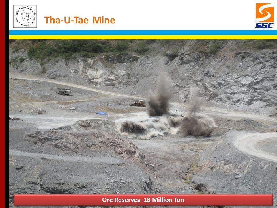 Ore Reserves- 18 Million Ton Tha-U-Tae Mine