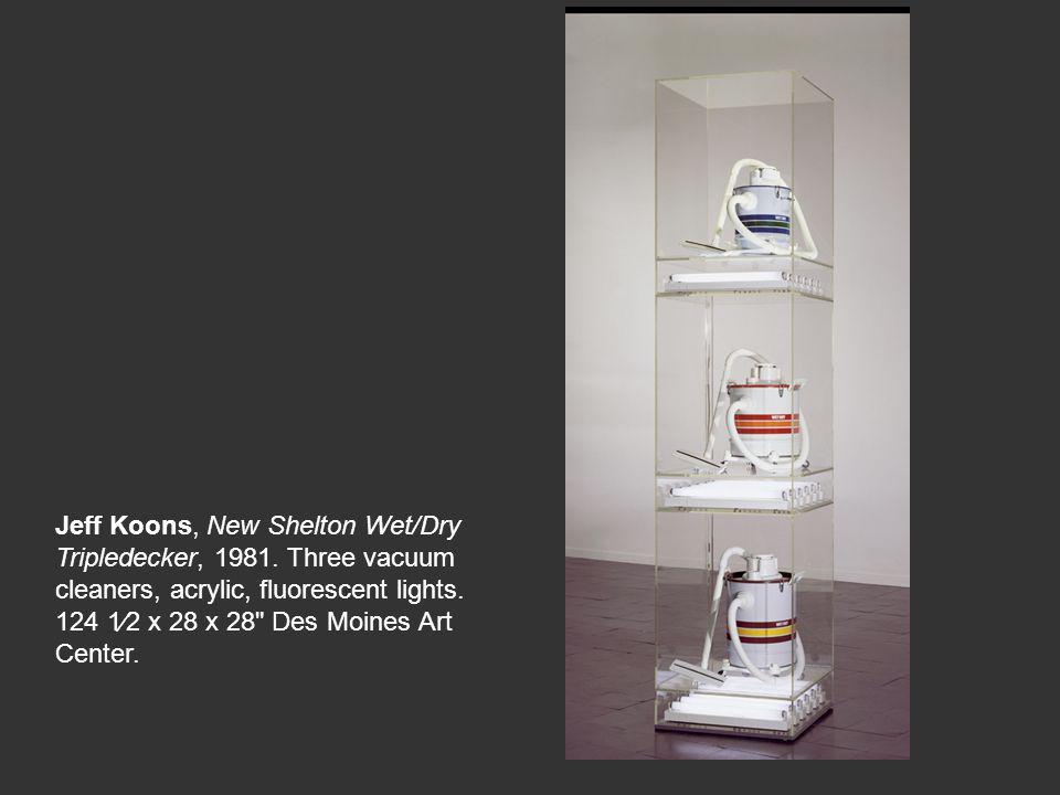 Jeff Koons, New Shelton Wet/Dry Tripledecker, 1981.