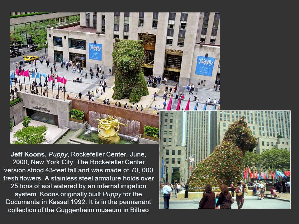 Jeff Koons, Puppy, Rockefeller Center, June, 2000, New York City.