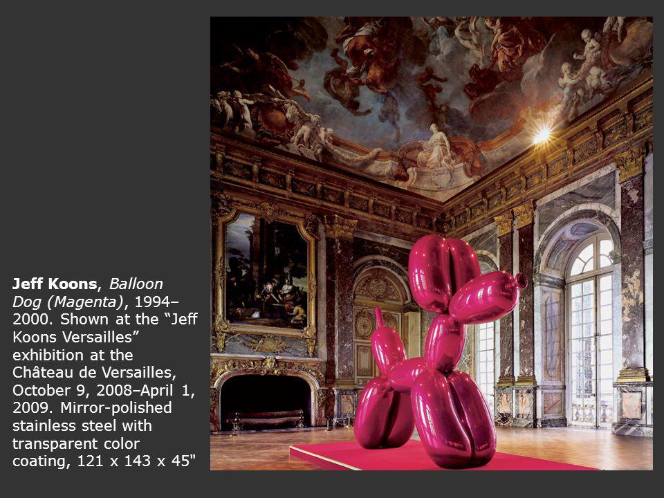 Jeff Koons, Balloon Dog (Magenta), 1994– 2000.