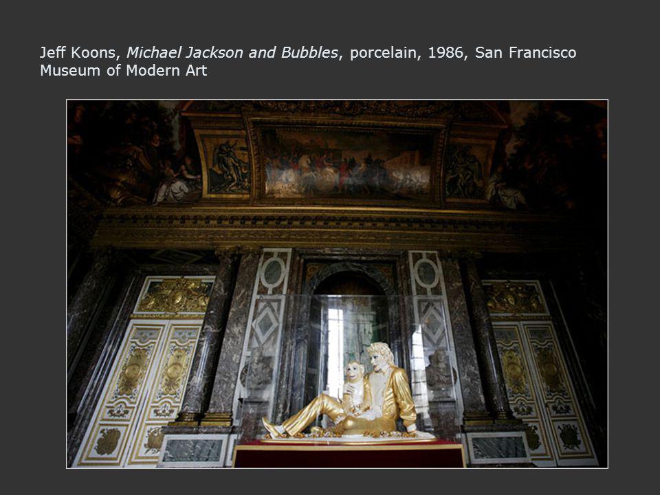 Jeff Koons, Michael Jackson and Bubbles, porcelain, 1986, San Francisco Museum of Modern Art