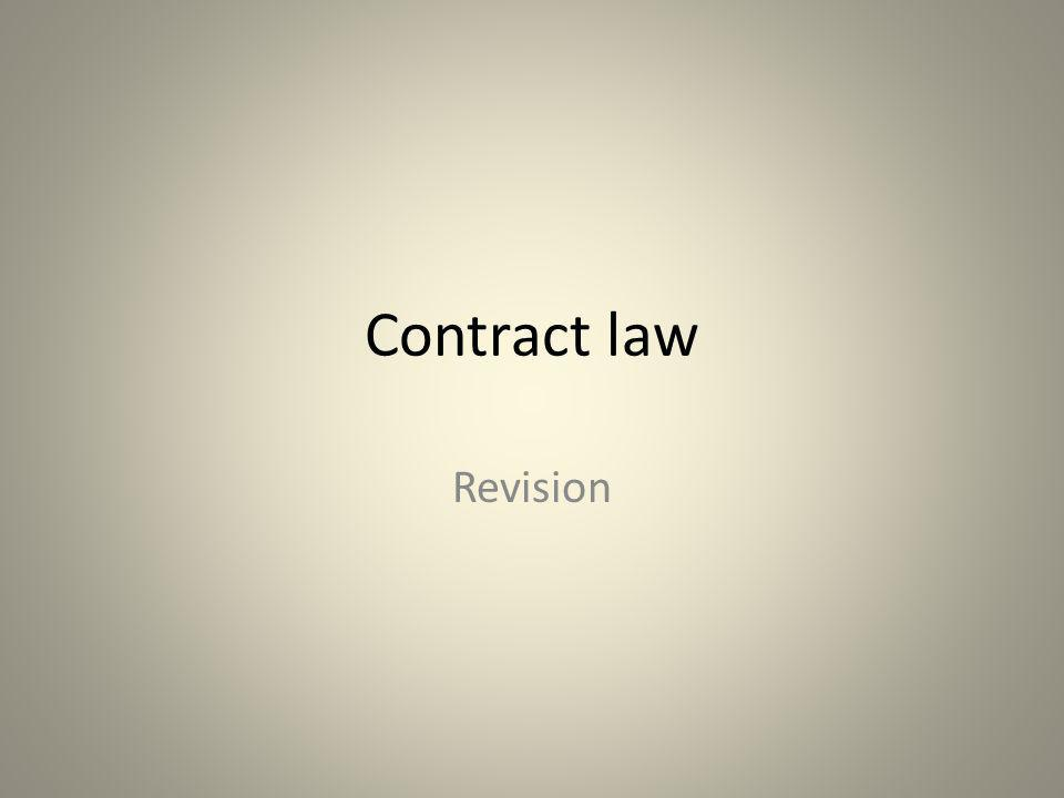 Contract law Revision