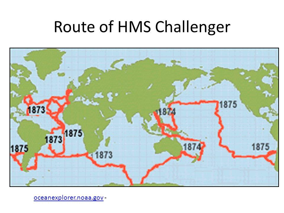 Route of HMS Challenger oceanexplorer.noaa.govoceanexplorer.noaa.gov -