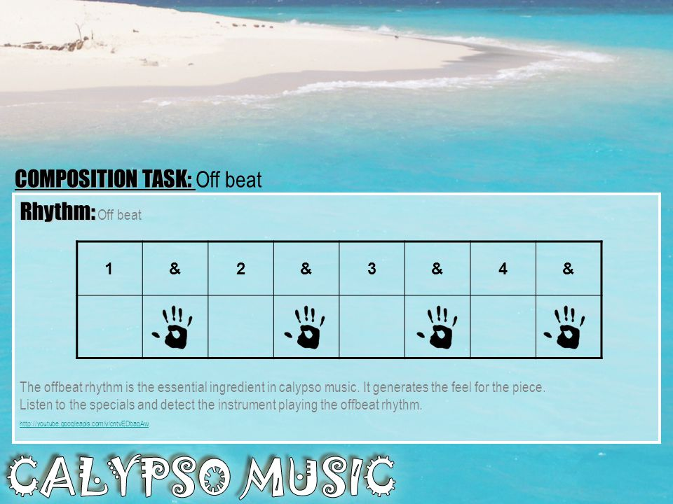 PERFORMANCE TASK: PERFORMANCE TASK: CALYPSO WARS TASK 3: TASK 3: In threes perform the bass line on the keyboard or the guitar.