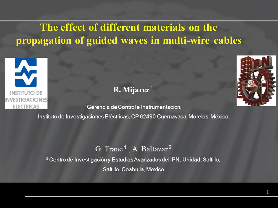 SIX SIGMA 1 The effect of different materials on the propagation of guided waves in multi-wire cables R.