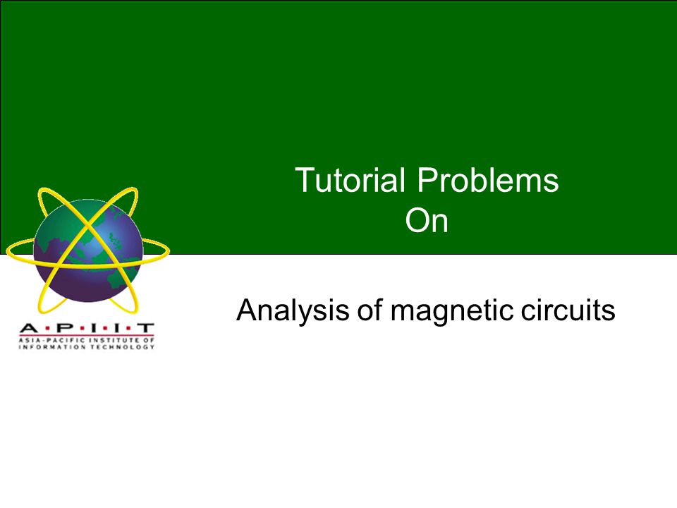 CE00436-1 ELECTRICAL PRINCIPLESTUTORIAL Problem 1 Problem 2 A coils of 200 turns is wound uniformly over a wooden ring having a mean circumference of 600 mm and a uniform cross sectional area of 500 mm2.