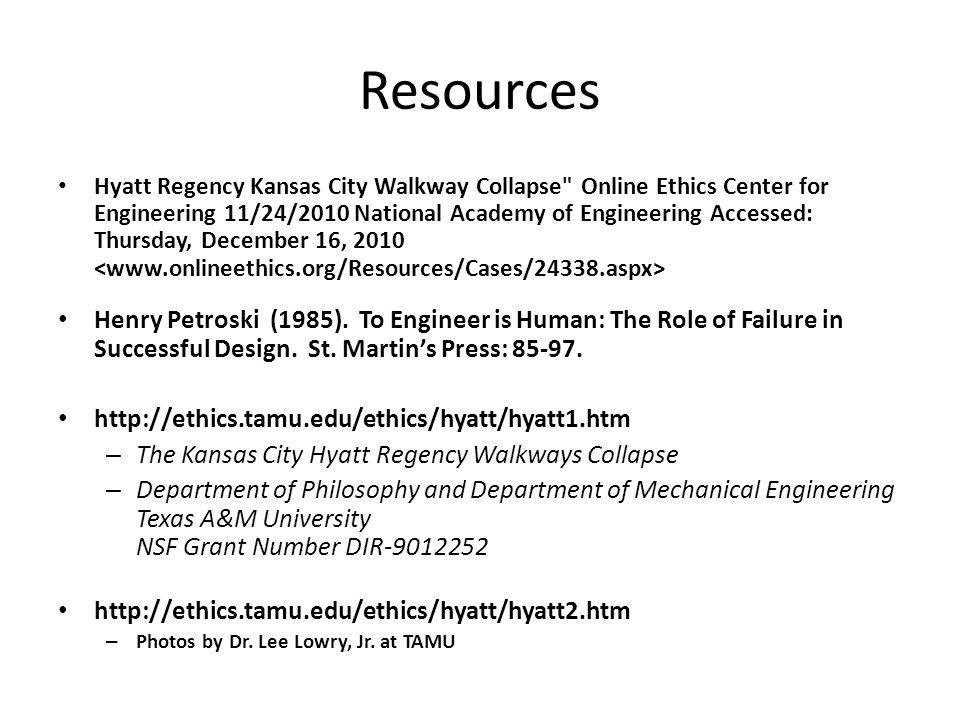 Resources Hyatt Regency Kansas City Walkway Collapse