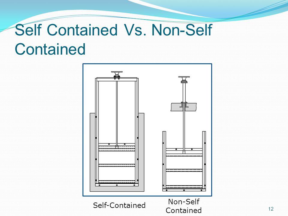 Self Contained Vs. Non-Self Contained Self-Contained Non-Self Contained 12