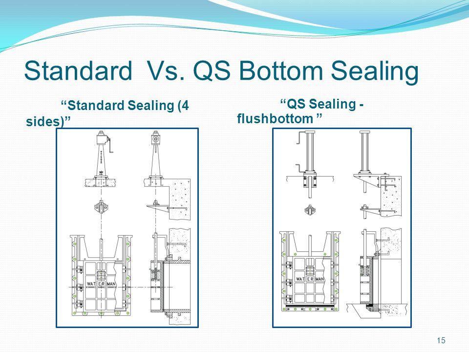Standard Vs. QS Bottom Sealing Standard Sealing (4 sides) QS Sealing - flushbottom 15
