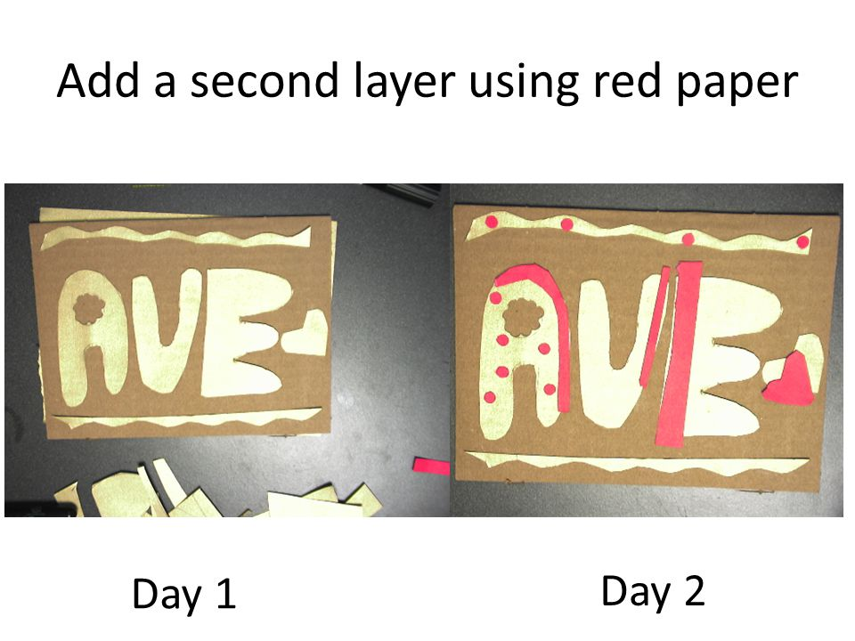 Layer 1: gold Layer 2: red OVERLAP gold