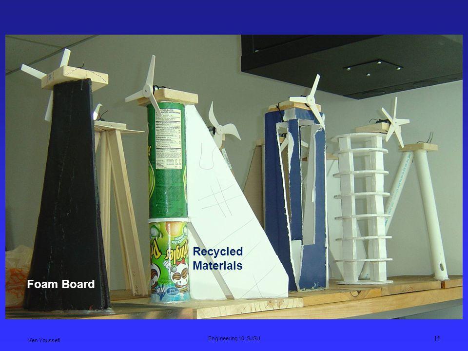 Ken Youssefi Engineering 10, SJSU 11 Foam Board Recycled Materials