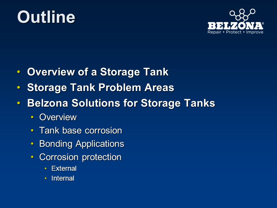 Overview of a Storage Tank